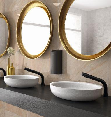 BLACK BINOPTIC de DELABIE - robinetterie design pour des sanitaires haut de gamme