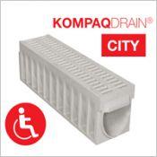 Caniveau compact KOMPAQDRAIN ® CITY PMR