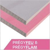 SINIAT - PRÉGYFEU & PRÉGYFLAM - Plaque de plâtre