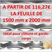 Acier IBIZA 62 M - 1 feuille 1500 mm x 2000 mm
