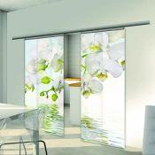 Porte en verre coulissante & esthétique