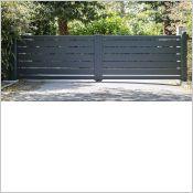 Portail aluminium Maez - Portail clôture aluminium contemporain