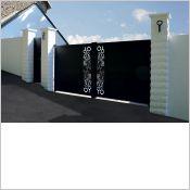 Picto - Portail clôture aluminium contemporain