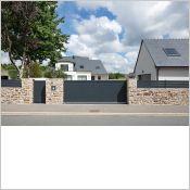 Portail aluminium Anaé - Portail clôture aluminium contemporain