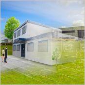 Bâtiment modulaire pour bureaux - Préfabriqué