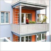 Remplissage de garde-corps de balcon : Panneau double face décor | Max Exterior labélisé biosourcé