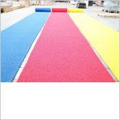 Tapis antidérapant de chantier couleur rouge / Bleu / Jaune / Orange pour sécuriser vos circulation de piétons