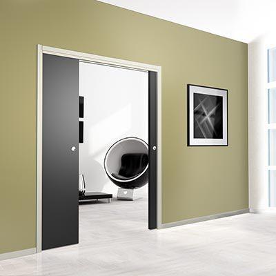 SAF-INSIDE système entre cloisons pour portes en bois (système à galandage pour portes en bois)  - Pour portes jusqu'à 80 kg.