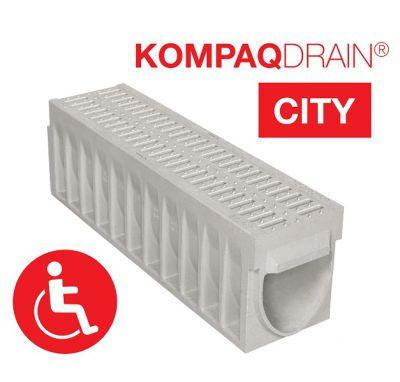 Caniveau compact KOMPAQDRAIN  CITY PMR