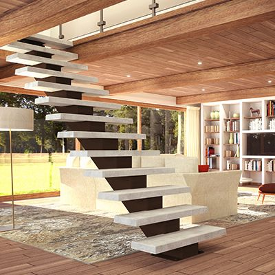 SoLoft - Broadway - Escaliers béton sur mesure