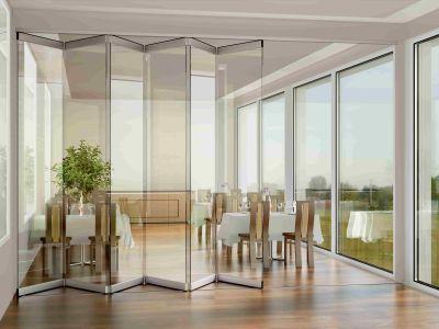 OPENTEC® - Système pliant pour baie vitrée - Large baie coulissante pliante