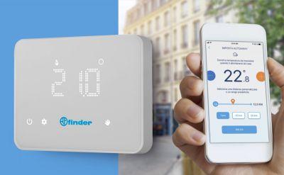 Thermostat connecté et réversible contrôlable à distance - Série 1c