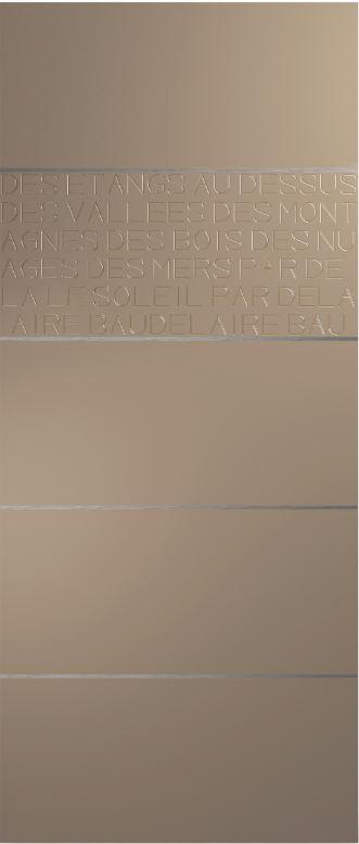 Panoporte aluminium - Poetic : les mots font le design