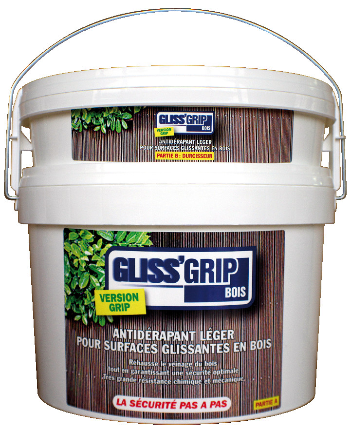 GLISS'GRIPBois - Vernis antidérapant pour le bois