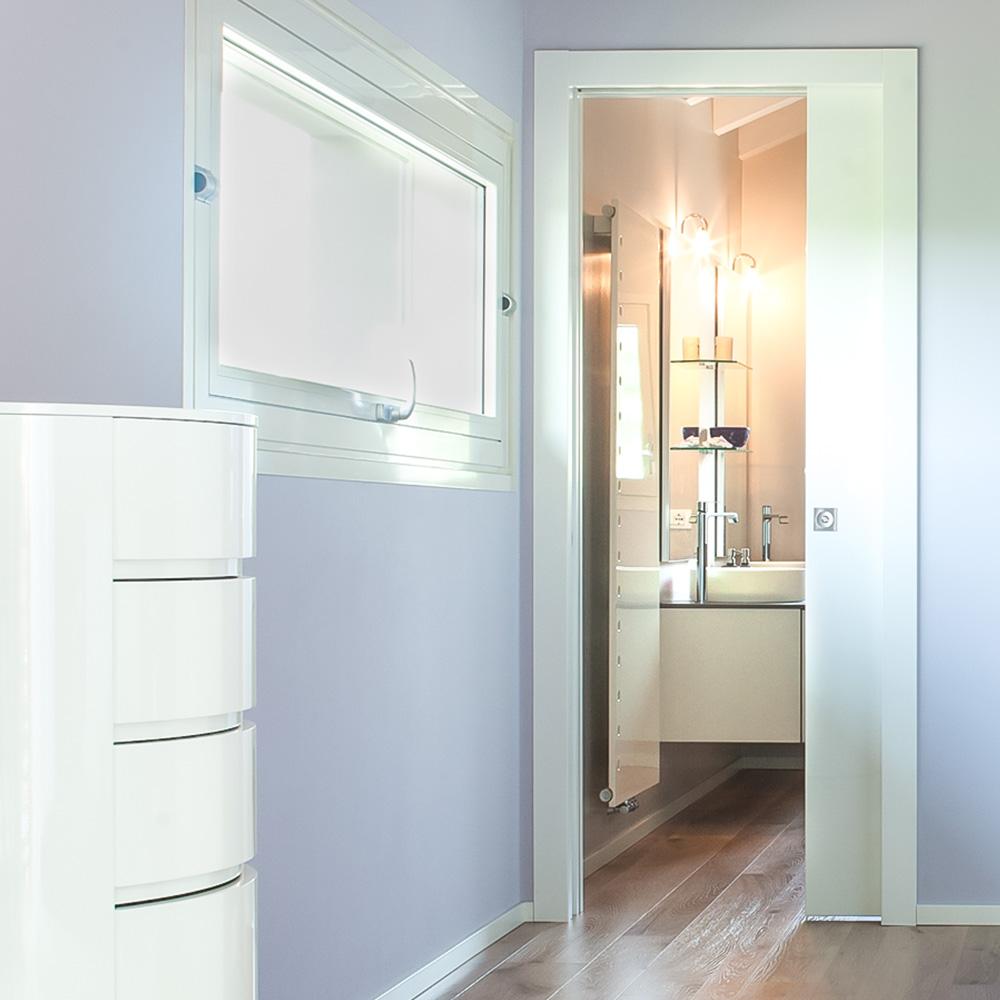 porte coulissante en verre avec ou sans d cor eclisse. Black Bedroom Furniture Sets. Home Design Ideas