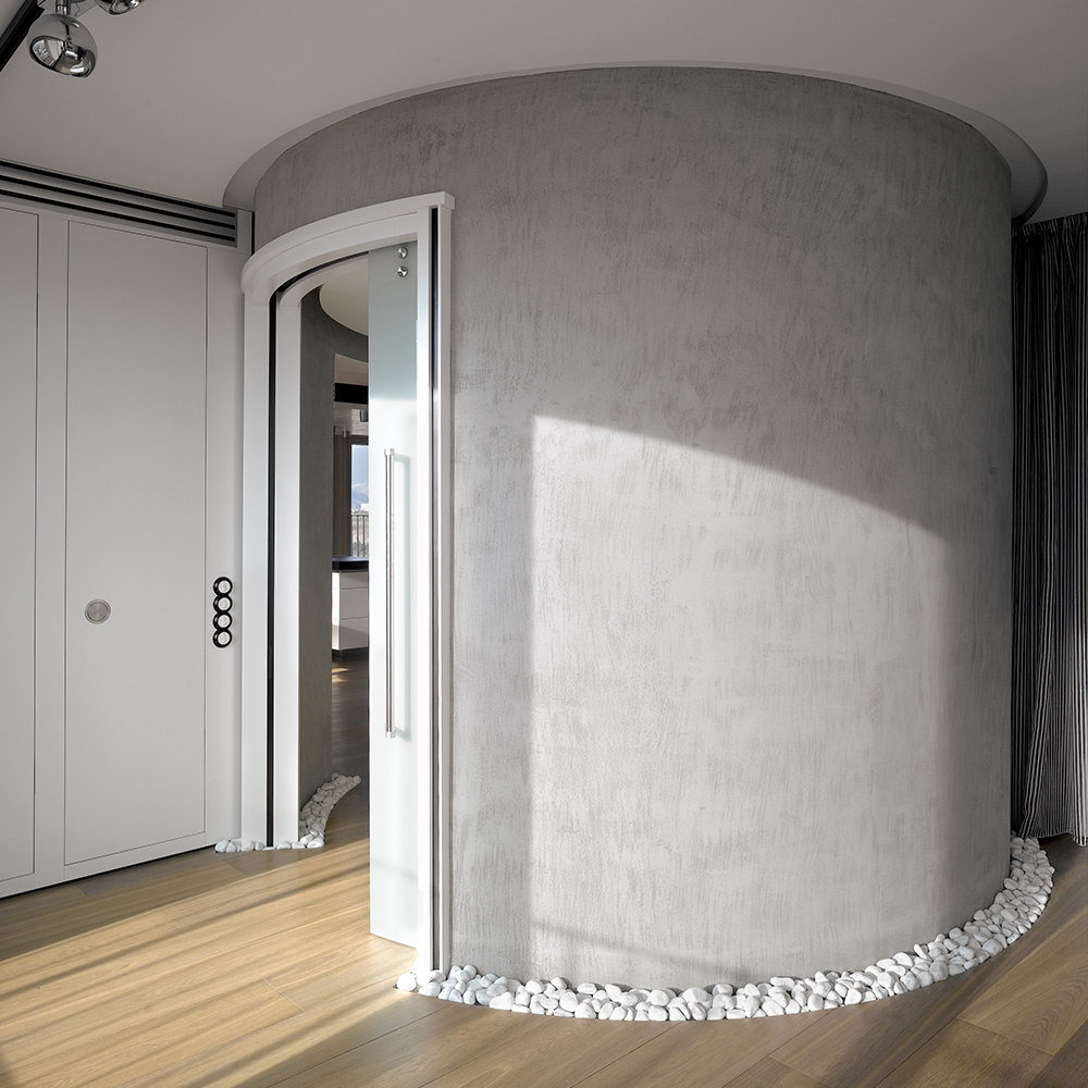 Porte coulissante courbe à galandage - Circular