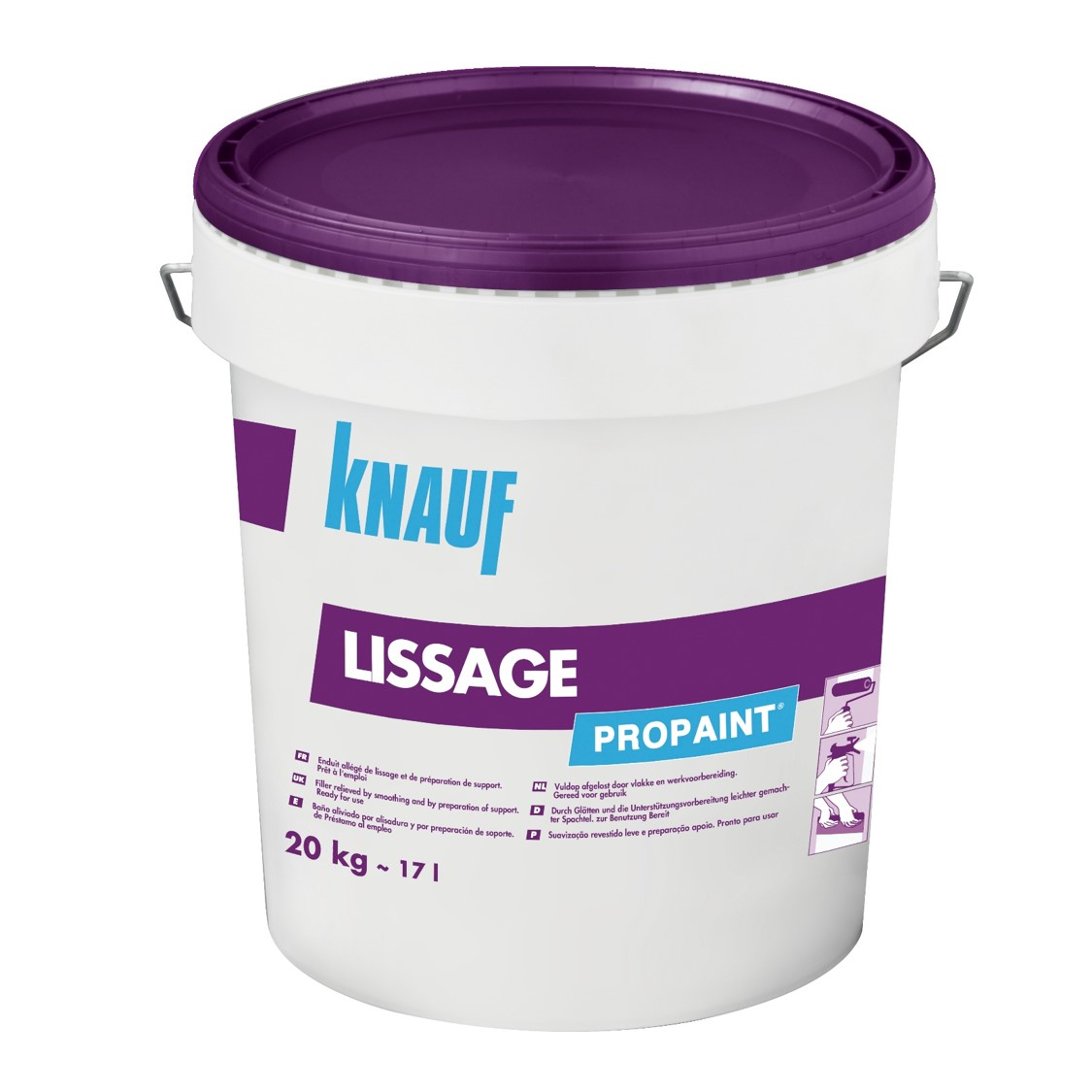 knauf propaint lissage enduit joint pr t l 39 emploi. Black Bedroom Furniture Sets. Home Design Ideas