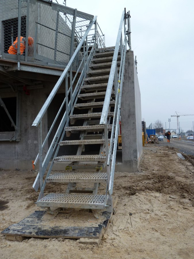 Escalier de chantier - Escalier modulaire d'accès provisoire