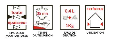 Prestonette extrem : réparation extérieure - Enduit de rebouchage et de réparation