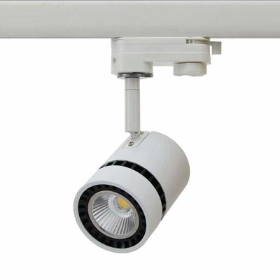 Spot LED Ø68mm sur rail 3 phases ou patère