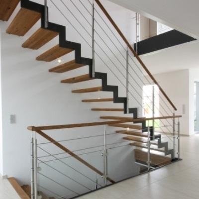 Escalier métallique modèle Ferro - Escalier contemporain bois métal