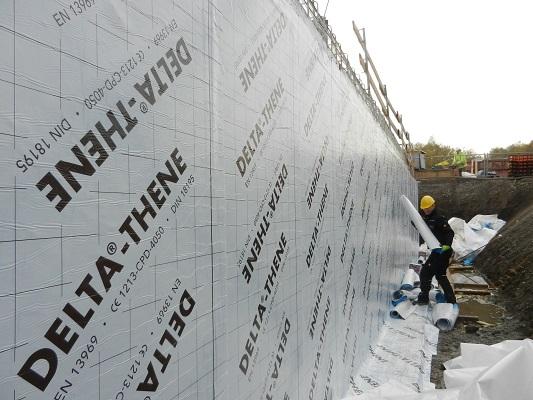 DELTA-THENE - étanchéité de paroi verticale enterrée