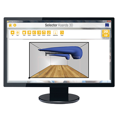 Selector Koanda 3D - Logiciel sélection diffuseurs d'air