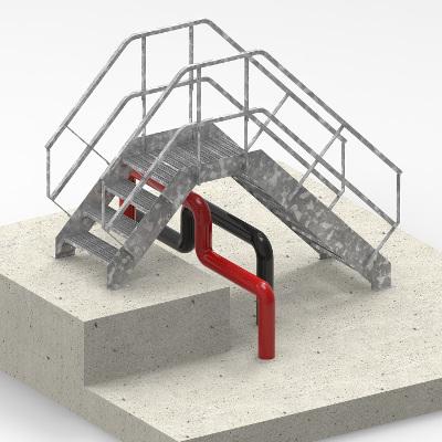 Escalier standard acier - Escalier de franchissement modulable