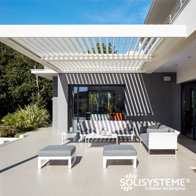 pergola bioclimatique protection solaire solisysteme. Black Bedroom Furniture Sets. Home Design Ideas