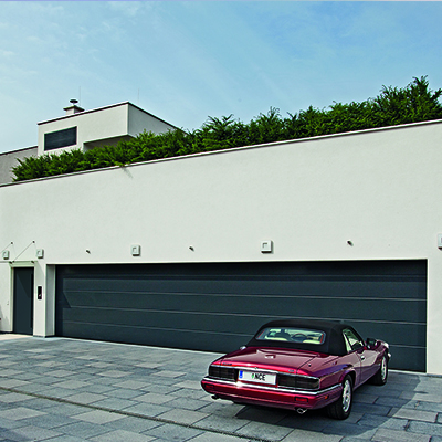 Porte de garage sectionnelle double jusqu 39 5 5 m hormann - Porte garage double ...