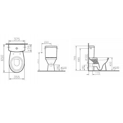 SAVO01029 - Pack wc complet caréné