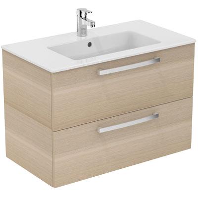 Meuble Ulysse suspendu 80 cm avec lavabo-plan - Meuble sous lavabo + lavabo-plan