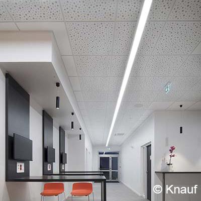 Knauf Danoline - Unity 8/15/20 - Plafond acoustique démontable perforé