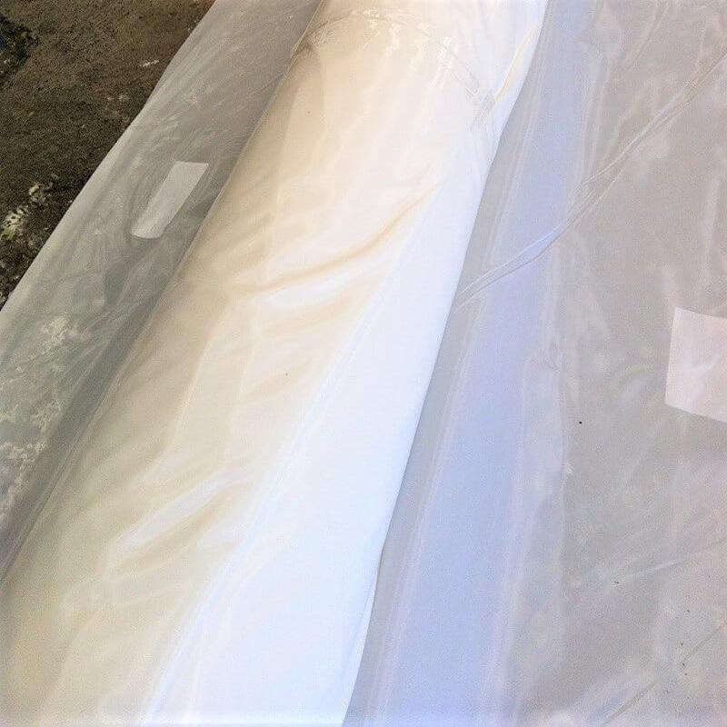Film PE Blanc Non Feu M1 ZONEPROTECT - 200µm - 6m x 25m - Protection polyéthylène ignifugée m1