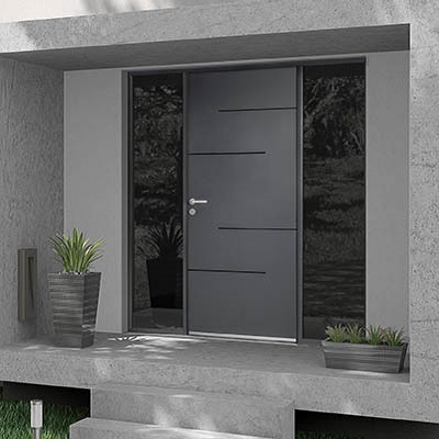 Tempo I - Gamme de portes d'entrée en aluminium