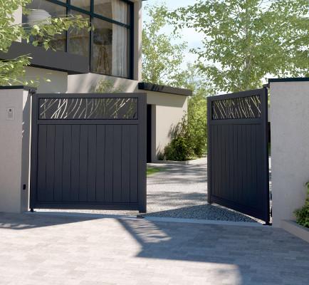 Collection LAZER - Portails aluminium