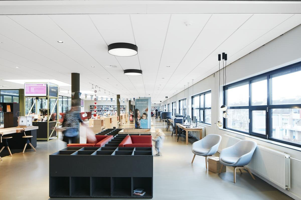 Ecophon Focus™ Lp - Le design acoustique - Plafonds acoustiques