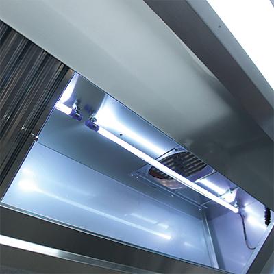 Novax UV Confort 90/10 - Hotte soudée lampes uv + rideau inductif